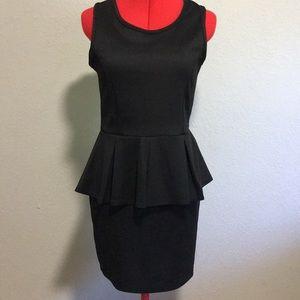 Black Peplum style dress size large